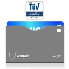 WallTrust® RFID NFC Blocker Schutzhüllen für EC Kreditkarten | TÜV | Oben offen