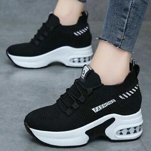 NEW Sequin Hidden Wedge Heel Platform Sneaker Ankle Booties Elastic Gore Slip On