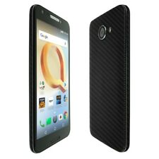 Skinomi Black Carbon Fiber Skin+Clear Screen Protector for Alcatel A30