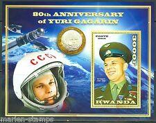 Rwanda 2015 80th Birthday Yuri Gagarin Souvenir Sheet Mint Nh