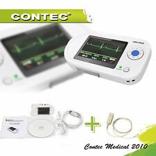 visual stethoscope ECG spo2 PR +PC SOFTWARE USB ADULT PROBE HOME/hospital/Clinic