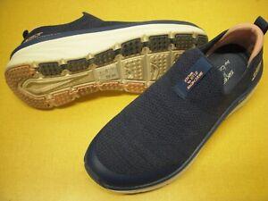 Skechers D'Lux Walker - Quick Upgrade Slip-On Sneakers Women's Shoes 7.5 M Navy