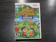 Animal Crossing City Folk Nintendo Wii Video Game Sim Simulation Disc Case