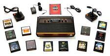 Atari 2600 Launch Edition Woodgrain Console, Tested, Atari Catalog/Plus 12 Games