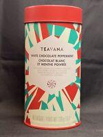 Teavana 2016 White Chocolate Peppermint Tea Tin 8oz Reusable (Tin only No Tea)