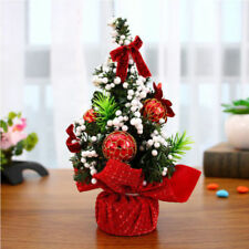 20cm Mini Red Christmas Tree Desk Table Xmas Party Gift Home Office Decor