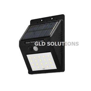 LAMPADA a LED Solare con Batteria 4W Sensore Crepuscolare/Movimento Segnapassi