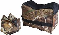 Front & Rear Rifle Air Gun Bench Rest Bag Hunting Target Swamper Camo E1650