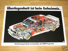 BMW M3 E30 POSTER 6 - SCHNITTZEICHNUNG EVO - RAR DIN A1 / ORIGINAL VINTAGE MINT