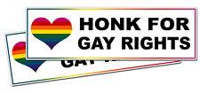Funny Honk For Gay Right Bumper Sticker Prank Gag Gift