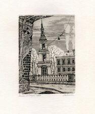 """""""Winter in St. Petersburg""""  Ex libris Free Graphic Etching by Elena Novikova"""