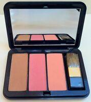 Estee Lauder Blush Pink & Peach & Bronze Goddess Miorror Brush Compact NEW