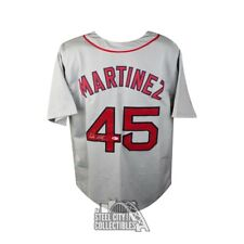 Pedro Martinez Autographed Boston Red Sox Gray Baseball Jersey - BAS COA