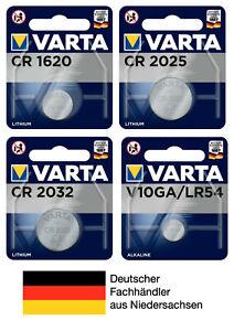Varta Knopfzellen CR1620 CR2025 CR2032 V10GA LR54 Batterien neueste Produktion
