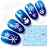 Snowflakes Nail Decals, Water Decals, Nail Stickers, Snowmen, Snowflakes, Frosty