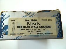 Lot of 50 Diamond Kirsch Hex Head Wall Anchors, #1764, Window Treatment item