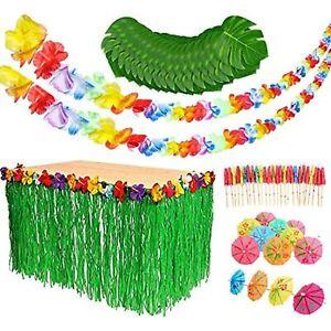Luau Party Decorations Set - Luau Party Supplies - Hawaiian Beach Party - Grass