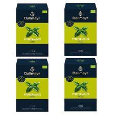 Pyramidentee Pfefferminze Bio Kräutertee 4 Tee Packung á 20 x 1,75g Dallmayr