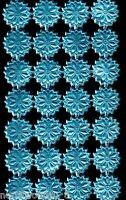 LT BLUE STAR ROSETTE STRIP FOIL MEDALLIONS EMBOSSED PAPER BORDER DRESDEN GERMANY