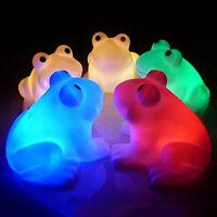 Magic LED Night Light Frog Shape Colorful Changing Lamp Room Bar Decor Fashion