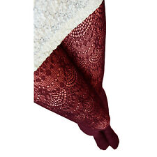 Womens Fashion Lycra Crochet Lace Tights Hosiery Ladies Pantyhose Red One Size Regular
