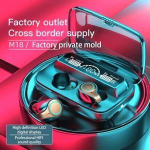 M18 TWS Wireless Earphone Touch Bluetooth 5.1 Earplugs Ear Stereo Music Headsets