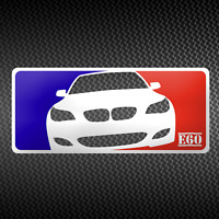 BMW E60 Sticker Major League EDM M5 Aufkleber Decal 16cm x 7cm