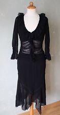 Morgan de Toi Kleid Zweiteiler schwarz transparent punkte Gothik Gr. 38 M / T2 *