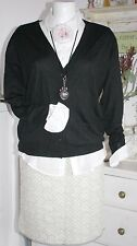 Noa Noa Strickjacke Cardigan Merino Knit  Black size: S Neu