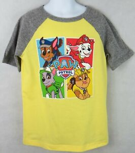 Paw Patrol Boys T-Shirt Officially Licensed Jumping Beans Yellow and Gray