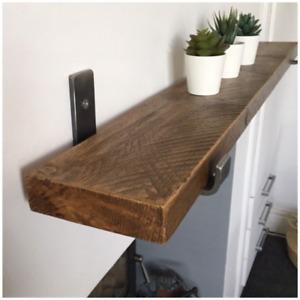 Scaffold Shelves - Picture Shelf - Rustic Shelf - Wooden Shelf - Slim Shelf