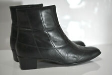 Sesto Meucci Womens black leather zip up boots size 9 M made in Italy