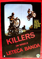 KILLERS ON WHEELS 1976 SHAW BROTHERS MOTORCYCLE MEGA RARE EXYU MOVIE POSTER
