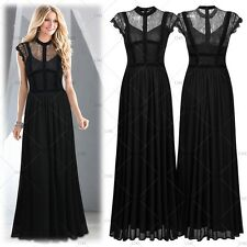 Women's Lace Formal Cocktail Evening Party Bridesmaids Night out Maxi Dresses