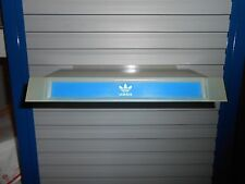 Adidas Blue Trefoil Plastic Slatwall Advertising Sign Store Display Shelf