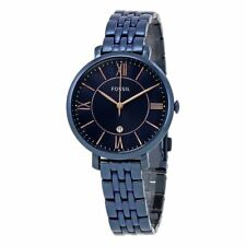 Fossil ES4094 Women's Jacqueline Navy Blue Stainless Steel Watch 36mm