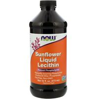 Now Foods Sunflower Liquid Lecithin 16 fl oz 473 ml GMP Quality Assured,