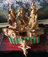 Vintage Depose Italy 13-Piece Nativity Set