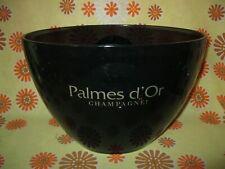 Ancien SEAU A CHAMPAGNE! PALMES D'OR PVC NOIR FUME ORANGE Ice Bucket Wine AOC