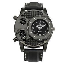 Reloj de pulsera deportivo de cuarzo analógico de acero inoxidable para hombre