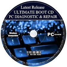 Computadora Pc mantenimiento diagnóstico de arranque del sistema de recuperación de datos de rescate de reparación CD +