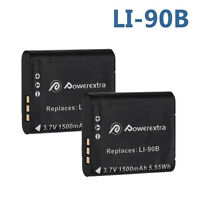 2x Battery for OLYMPUS LI-90B LI-92B Tough TG-3 TG-4 TG-2 TG-1 XZ-2 iHS Camera