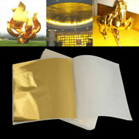 100 Sheets DIY Rose Gold Foil Leaf Gilding Handicrafts Paper Decoration 9cmx9cm
