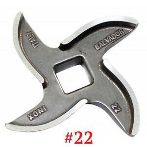 Mincer Blade No 22 Stainless Steel, Curved Edge Genuine Salvador