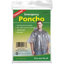 Coghlan's Emergencia Poncho Con Capucha, reutilizable y ligero, la supervivencia de emergencia