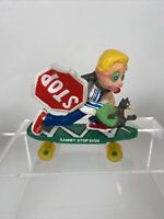 1986 Smack-ups skateboard toy - Sammy Stop Sign PLAYTIME FIGURE