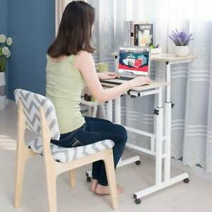 67-110cm Adjustable Height Stand Up Laptop Desk Computer PC Desk with Rollers