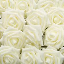 10/50/100x Espuma Rosas Aritificial Flores Boda Novia Ramo Fiesta Casa Adornos