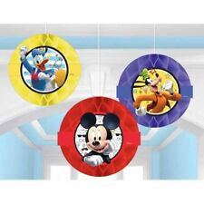 MICKEY MOUSE On the Go HONEYCOMB DECORATIONS (3) ~ Birthday Party Supplies Paper