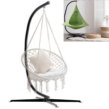 Durable C-Stand for Hanging Hammock Swing Chairs Black Powder-Coated Steel Frame